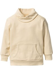 Sweatshirt med vid krage, bpc bonprix collection, beige
