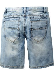 Jeansbermudas, ledig passform, RAINBOW, medium blue bleached used
