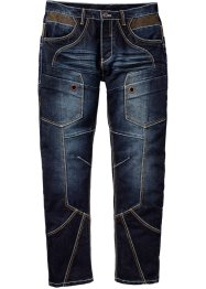 Jeans, normal passform, rakt ben, RAINBOW, dark blue stone used