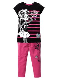 "Långtröja +Caprileggings ""MONSTER HIGH"" (2 delar), Mattel, svart/mellanpink"