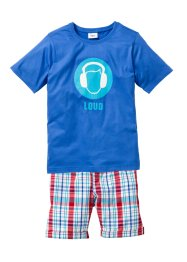 T-shirt + bermudashorts (2 delar), bpc bonprix collection, blå/rutig