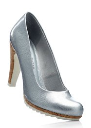 Pumps, Marco Tozzi, silver, metallic