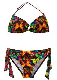 Bikini (2 delar), bpc bonprix collection, svart, mönstrad
