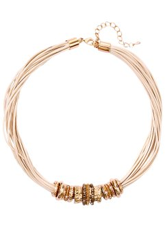 Halsband, bpc bonprix collection, cremevit/guldfärgad