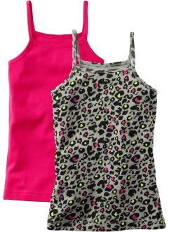 Linne (2-pack), bpc bonprix collection, leopard/mörk pink