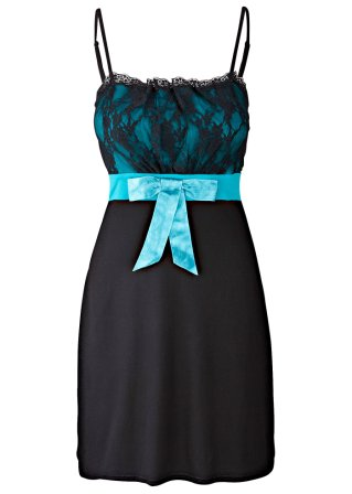 Spetsklänning, BODYFLIRT, jade/svart