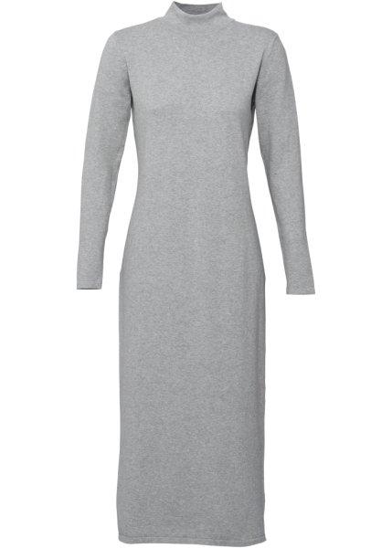 Stickad klänning, långärmad