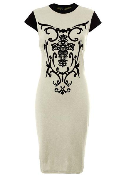 Klänning med flocktryck