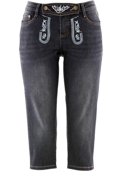 Bonprix SE - Folkdräktsinspirerade jeans med broderi, 3/4-längd 279.00