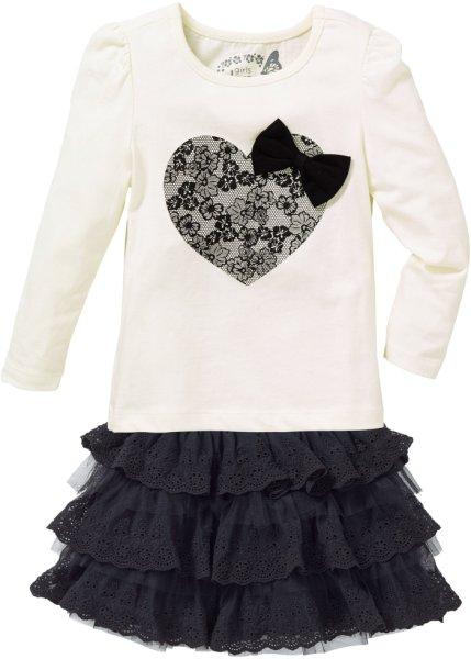 Bonprix SE - Topp + kjol med spets (2 delar), strl. 80/86-128/134 189.00