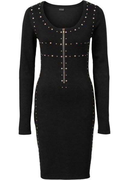 Bonprix SE - Stickad klänning med nitar och dragkedja 279.00