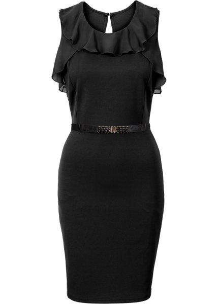Bonprix SE - Jerseyklänning med chiffongvolanger 299.00