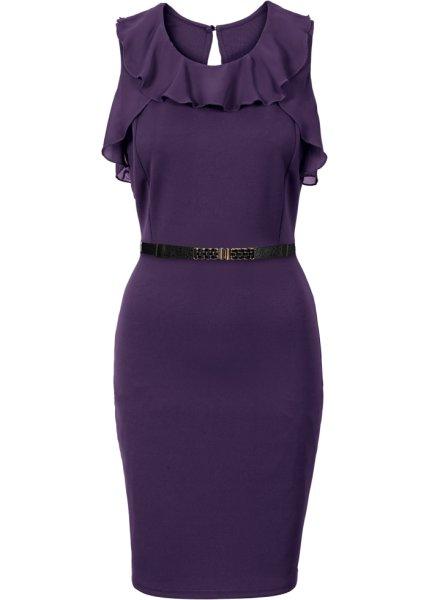 Bonprix SE - Jerseyklänning med chiffongvolanger 379.00