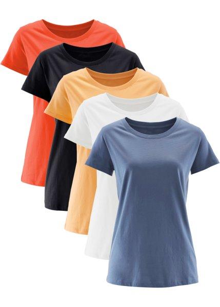 Bonprix SE - Longshirt med rund hals, kort ärm, 5-pack 249.00