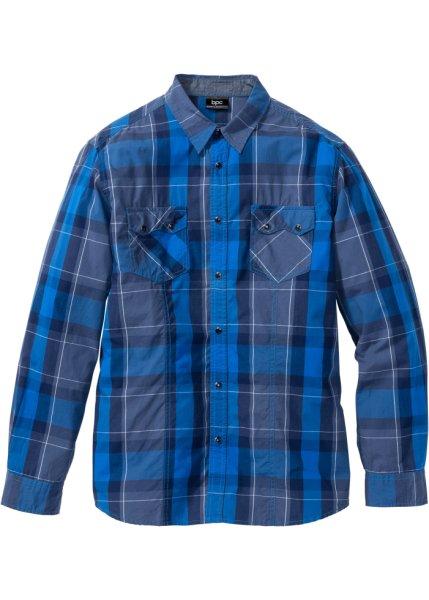 Bonprix SE - Långärmad rutig skjorta, normal passform 129.00
