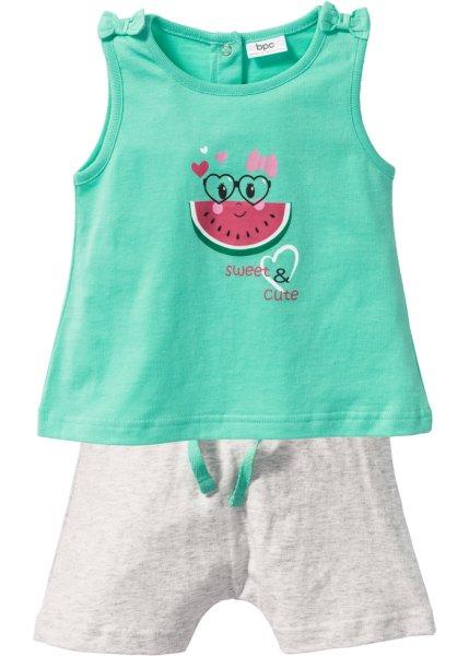 Bonprix SE - Babylinne + shorts (2 delar), ekologisk bomull 69.00