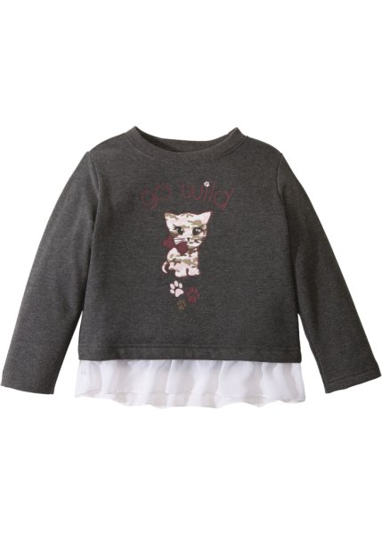 Bonprix SE - Sweatshirt med chiffongvolang 69.00