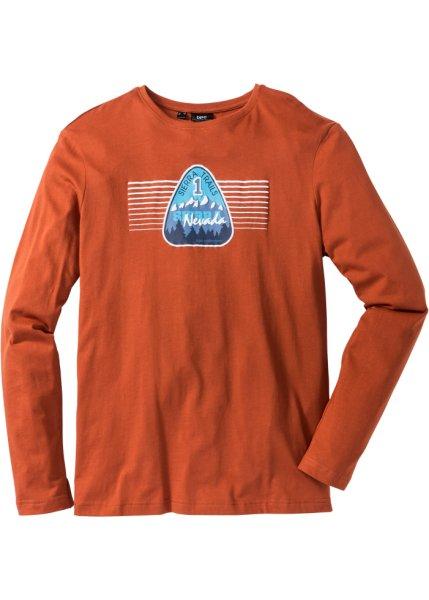 Bonprix SE - Långärmad T-shirt med tryck, normal passform 89.00