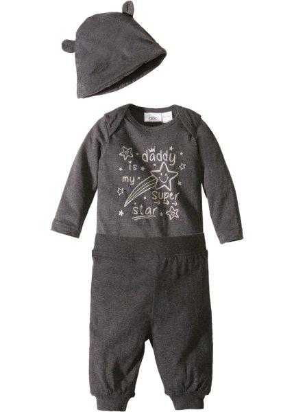 Bonprix SE - Babybody+ jerseybyxa+ mössa (3 delar), ekologisk bomull 169.00