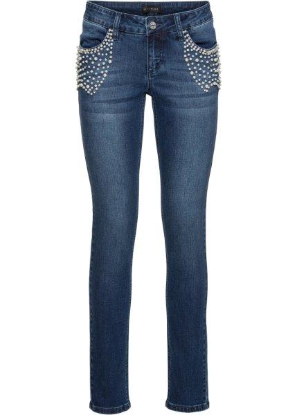 Bonprix SE - Push-up-jeans i stretch med pärlor 349.00
