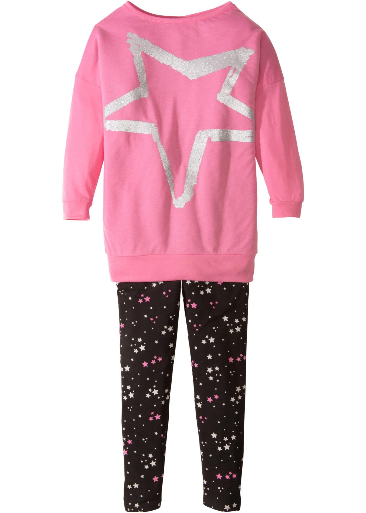 bpc bonprix collection Longshirt + leggings för flickor (2 delar)
