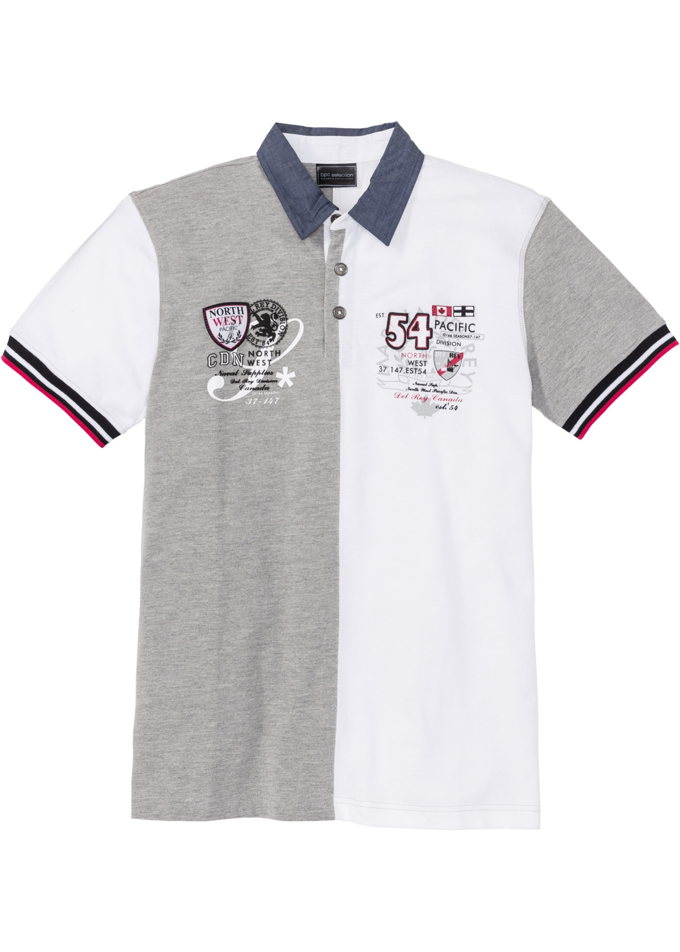 Bonprix - Pik?Šskjorta med colour blocking-effekt, normal passform 199.00