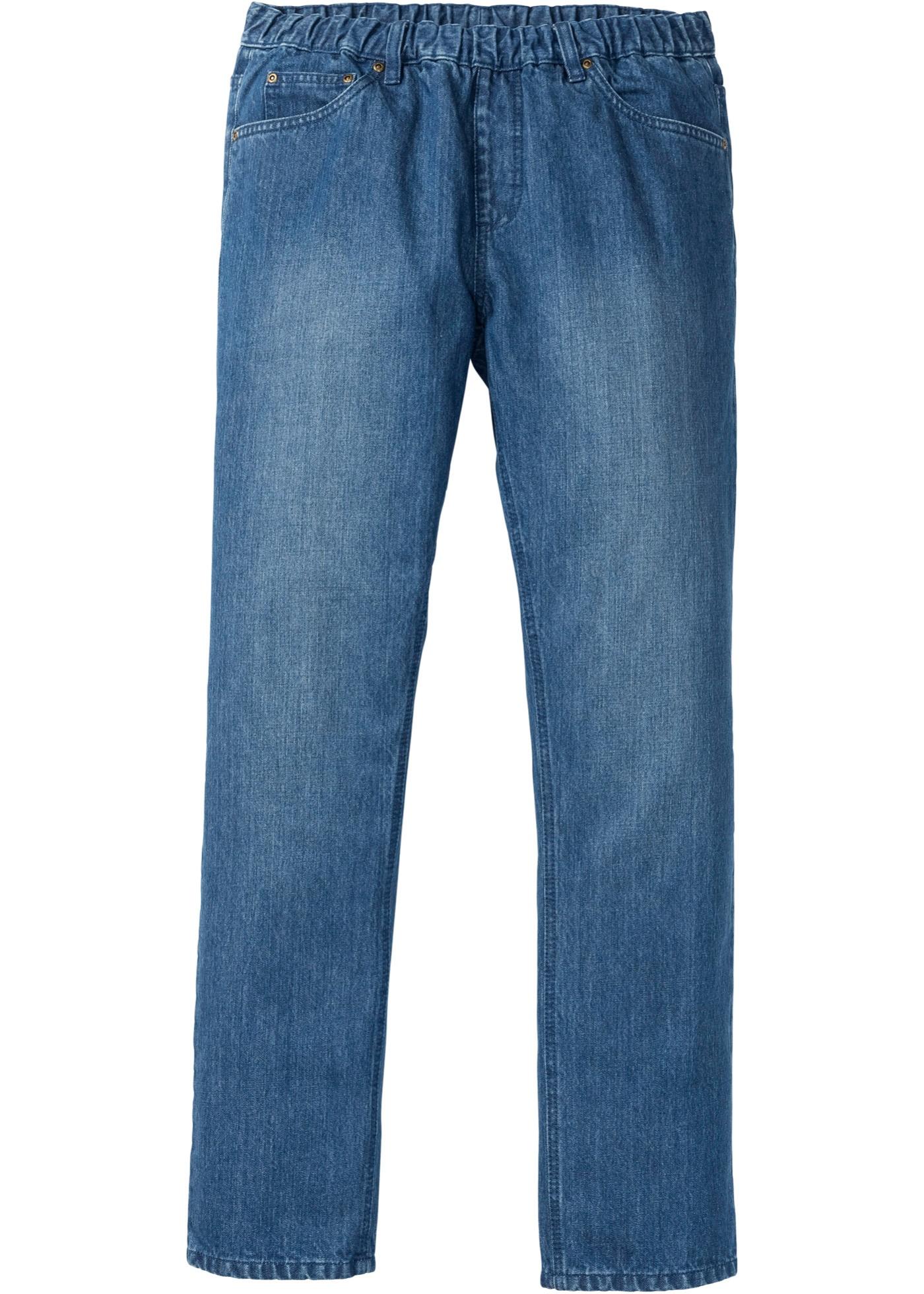 Bonprix - Dra p??-jeans, normal passform, raka ben 199.00