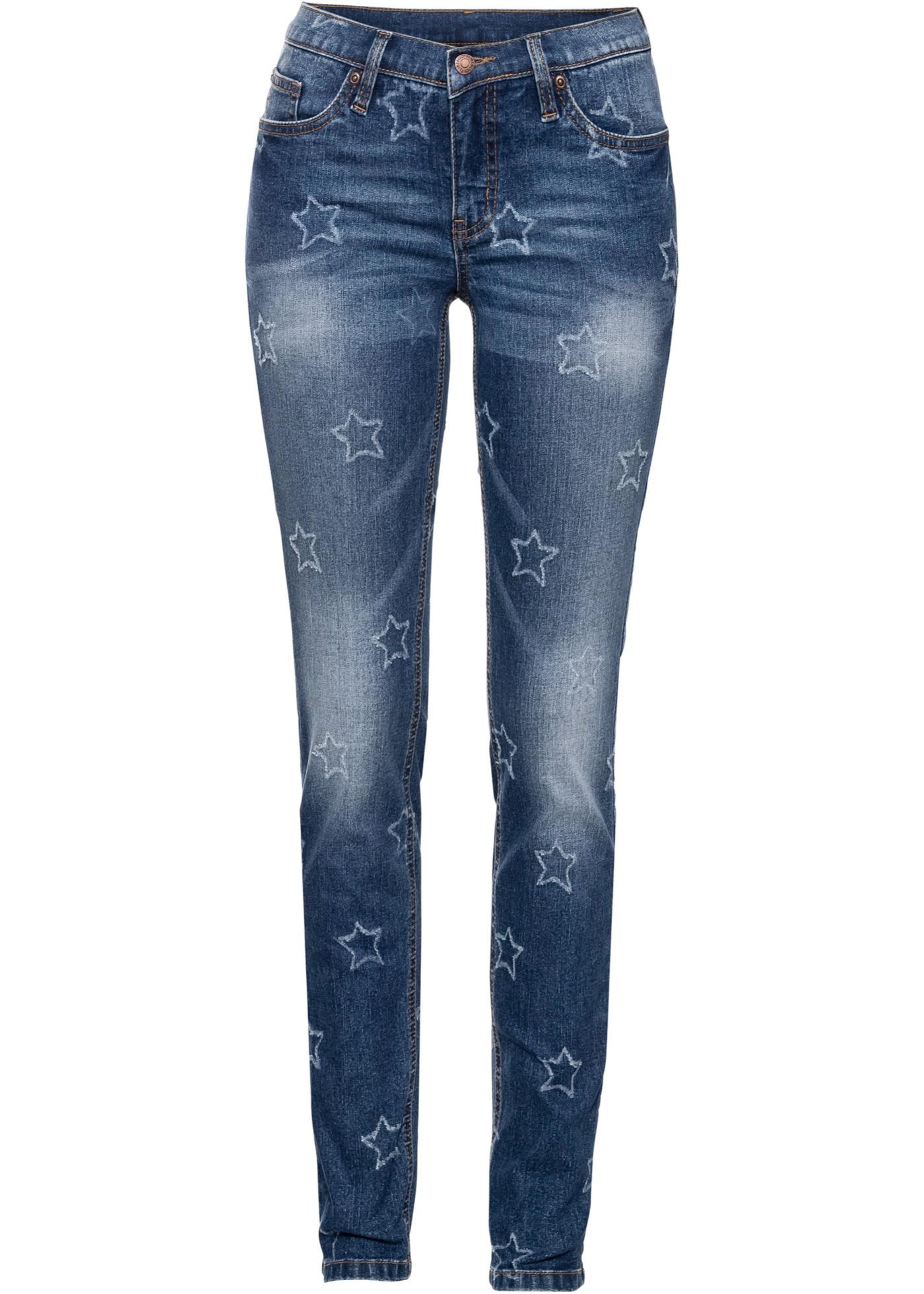 Bonprix - Jeans med destroyed stj?¤rnor 299.00