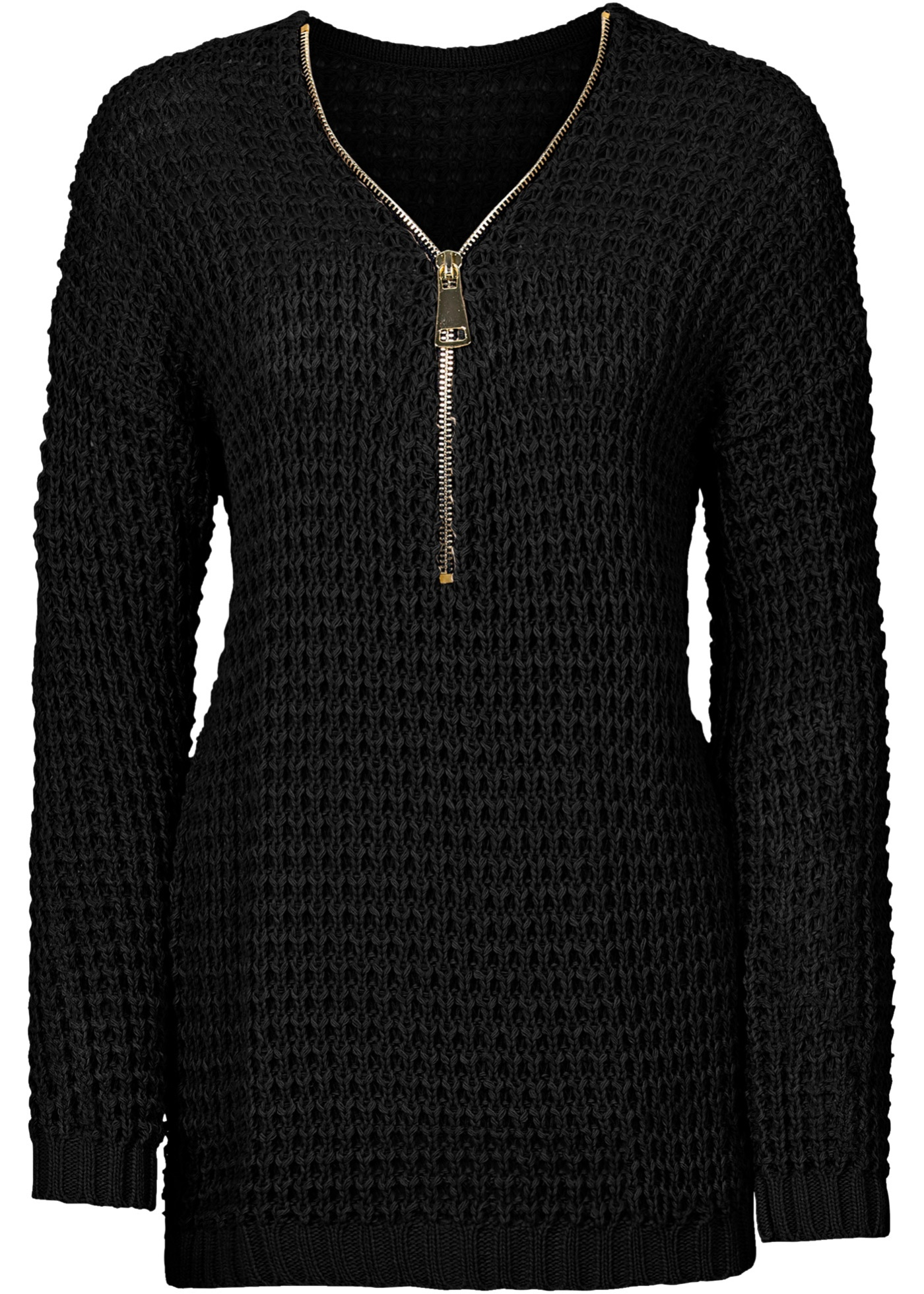 Bonprix SE - Stickad tröja med dragkedja 279.00