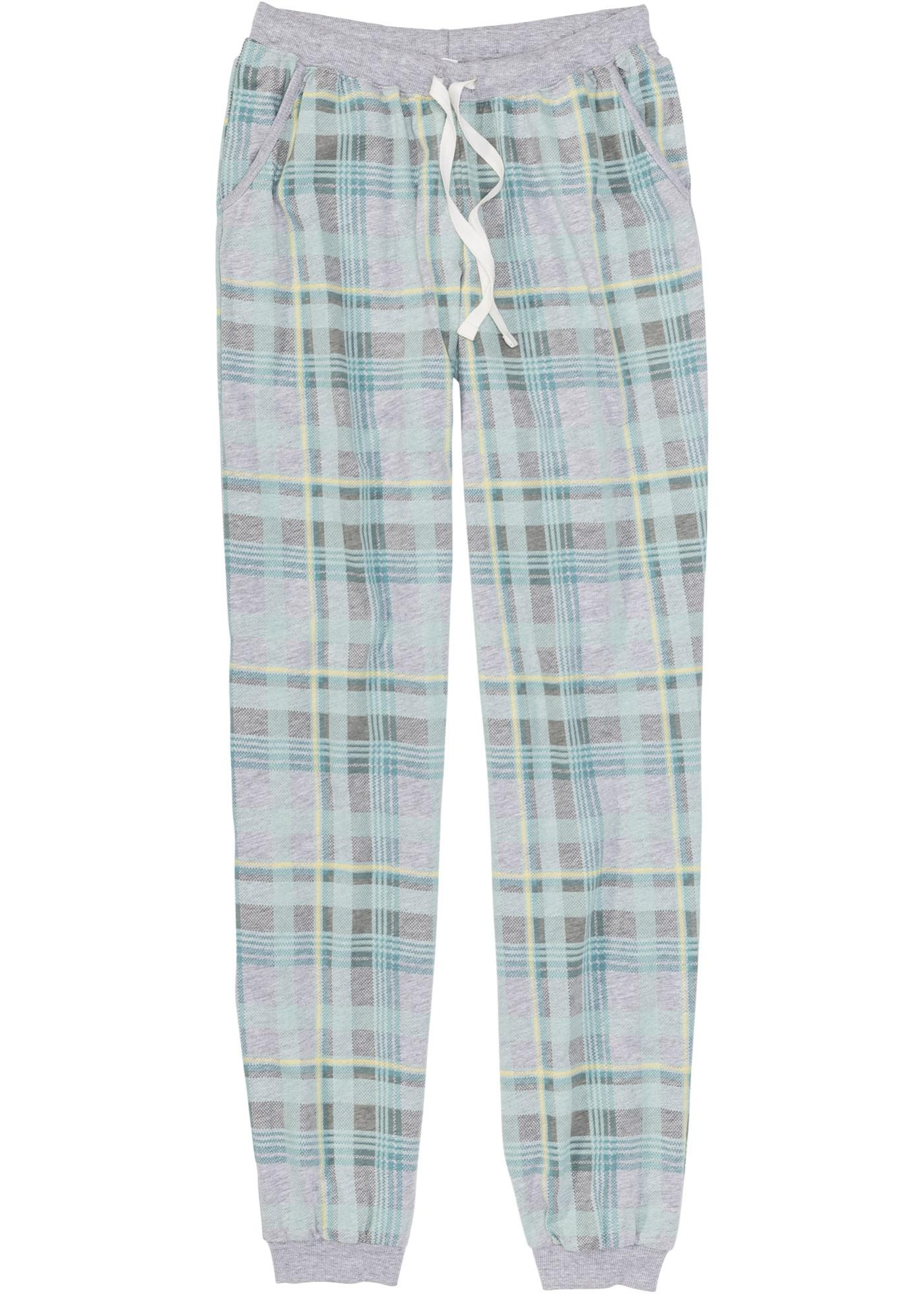 Pyjamasbyxa med ribbstickade muddar