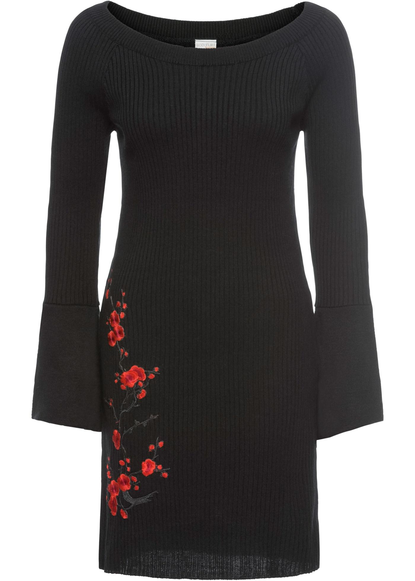 Bonprix SE - Stickad klänning med broderi 349.00