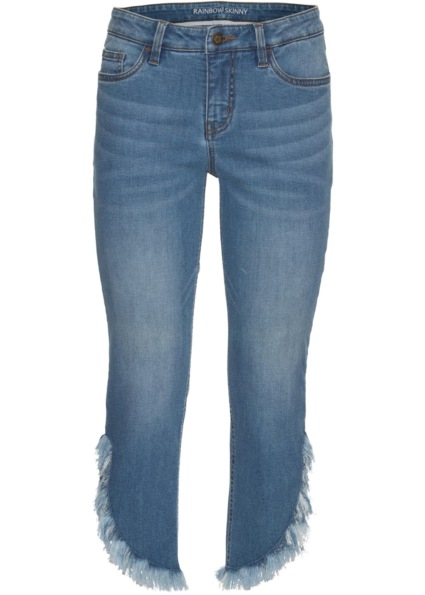 Bonprix SE - Korta smala jeans med fransar 299.00