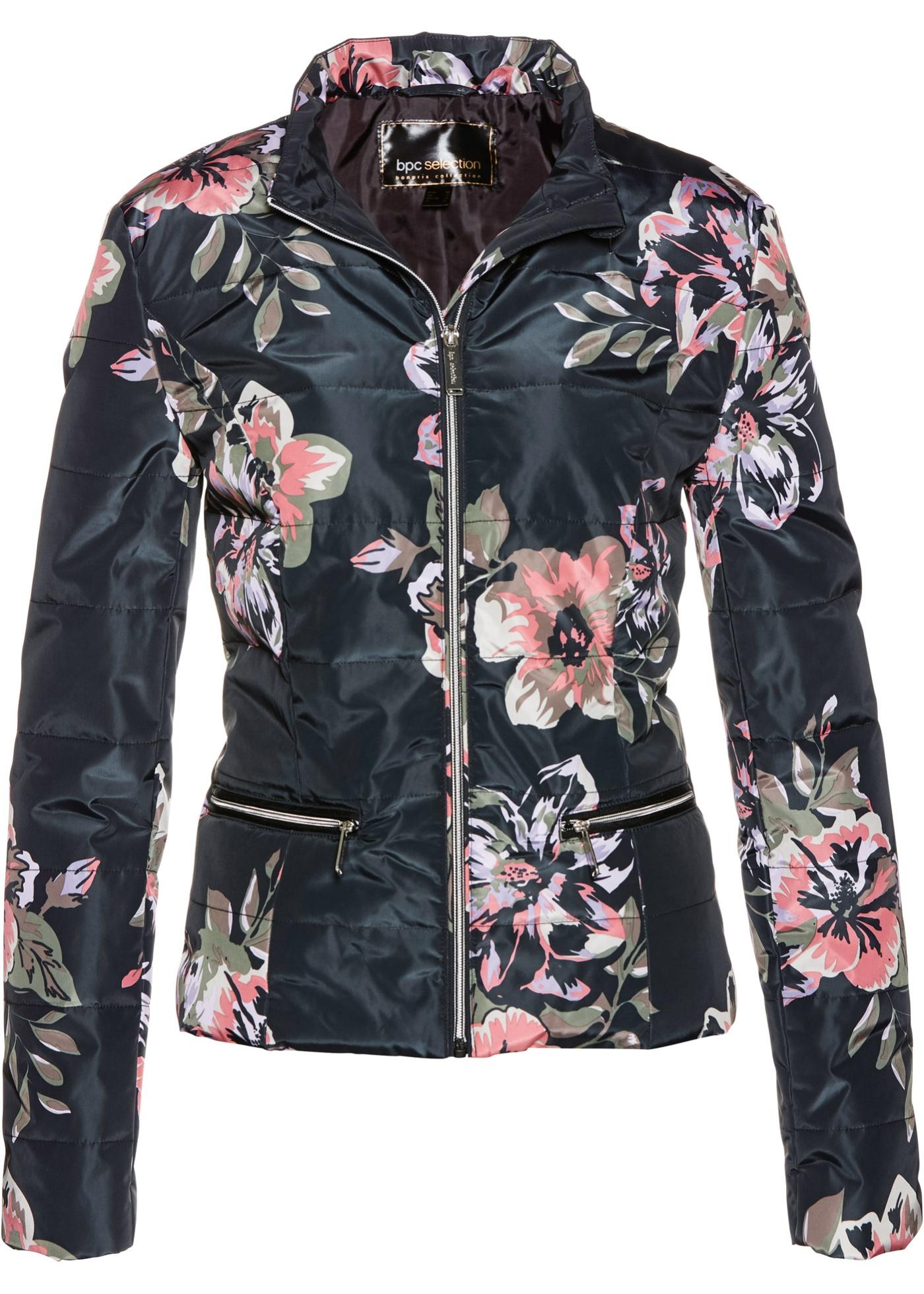 Bonprix SE - Quiltad jacka med blommönster 299.00