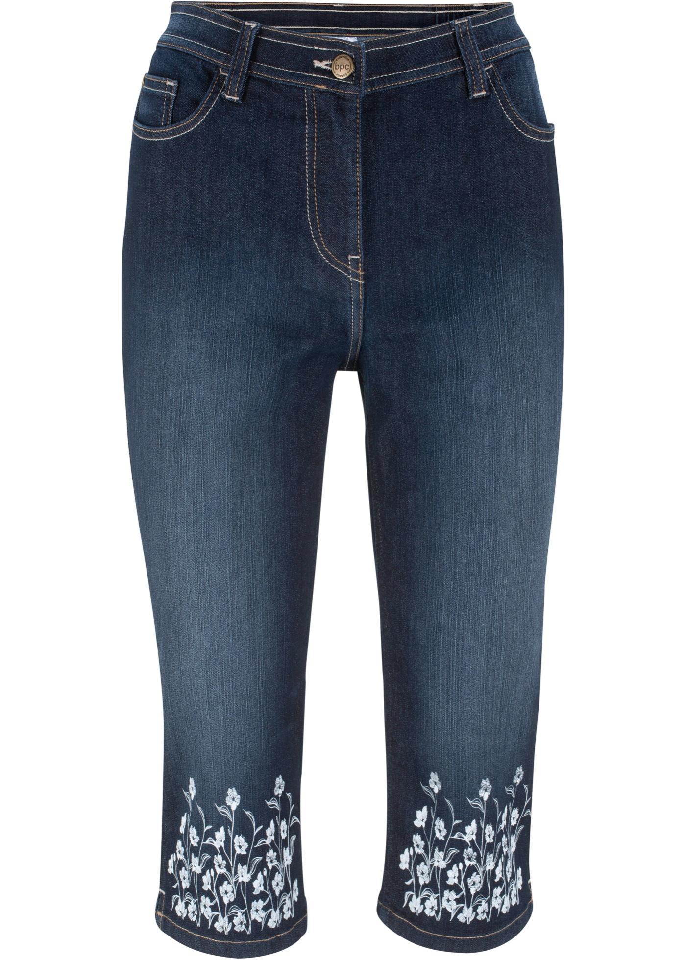 Bonprix - Jeans i trekvartsl?¤ngd med broderat m??nster 249.00