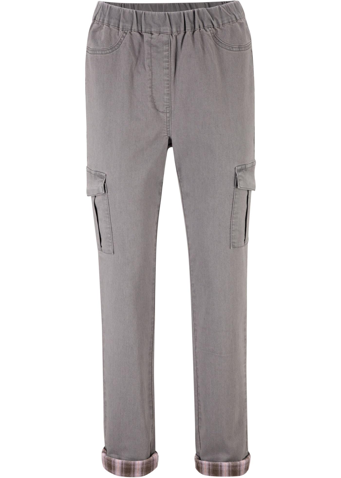 Bonprix - Push-up jeans med rutiga uppvikta benslut 289.00