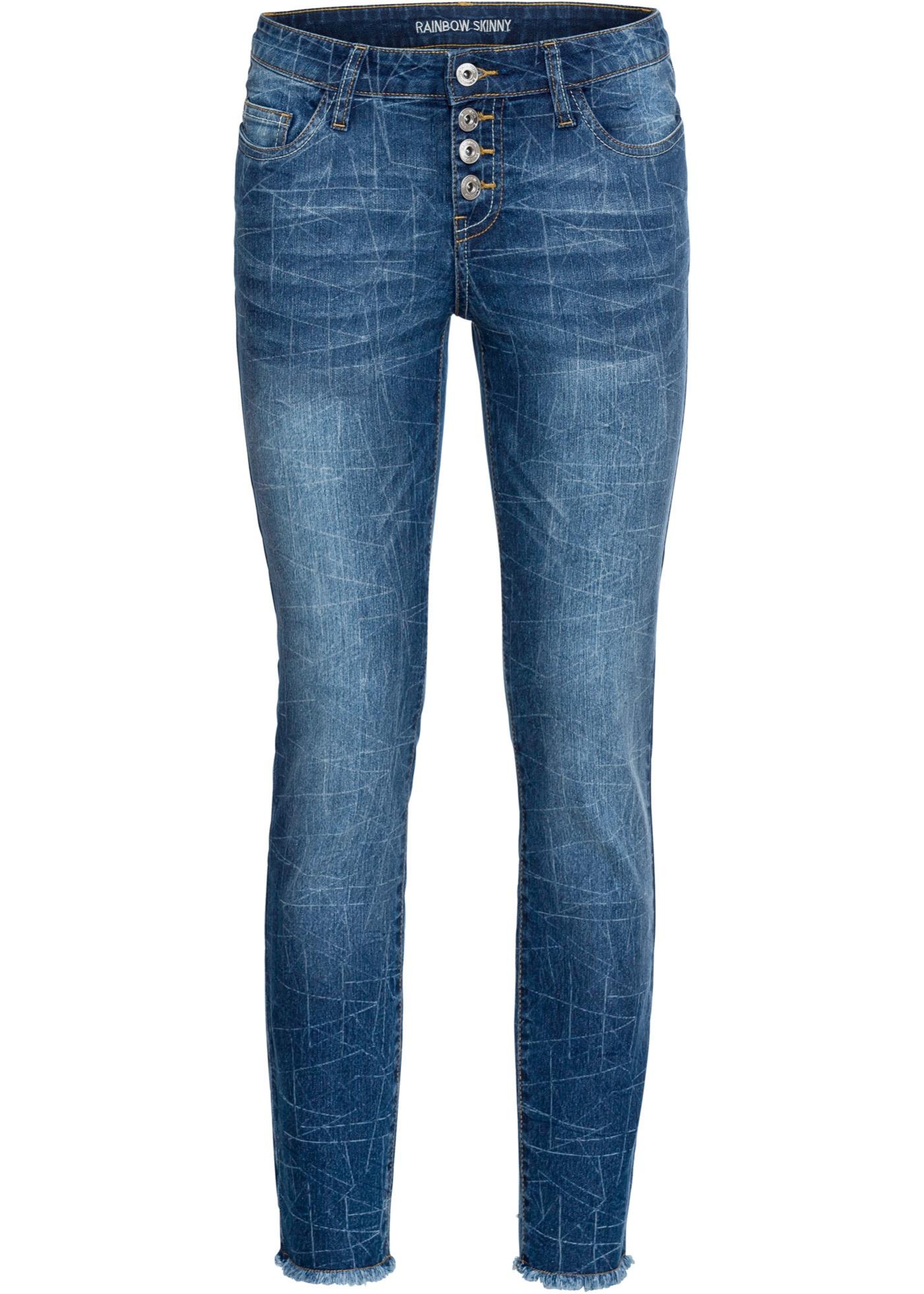 Bonprix - Skinny jeans med geometrisk tv?¤ttad effekt 379.00