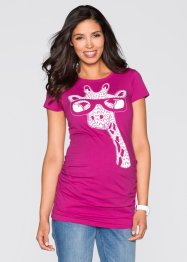 T-shirt i mammamodell, bpc bonprix collection, mellanfuchsia, mönstrad