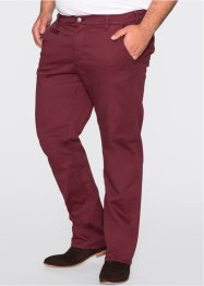 Stretchchinos, smal passform, rakt ben, bpc bonprix collection, bordeaux
