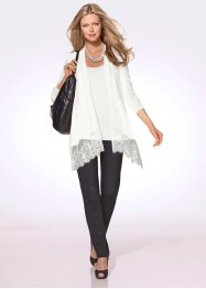 Twin-set (cardigan+linne), bpc selection premium, natursten