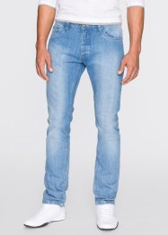 Jeans slim fit straight, RAINBOW, blue bleached used