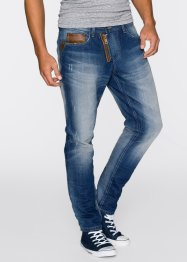 Jeans, avsmalnande ben, RAINBOW, blue used