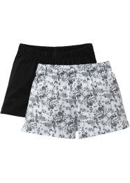 Shorts (2-pack), bpc bonprix collection, mönstrad/svart