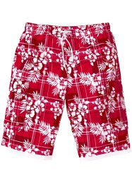 Bermudashorts, bpc bonprix collection, röd, mönstrad
