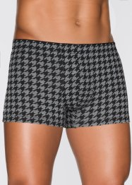 Boxershorts (3-pack), bpc bonprix collection, gråmelerad, mönstrad
