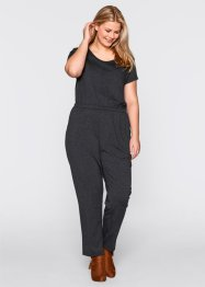 Jumpsuit i jersey, bpc bonprix collection, ljusgråmelerad