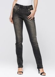 Stretchjeans med nitar, bpc selection, dark blue stone