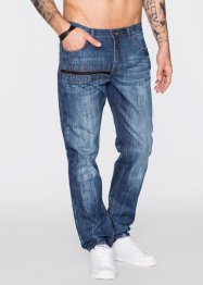Jeans, normal passform, rakt ben, RAINBOW, blue used