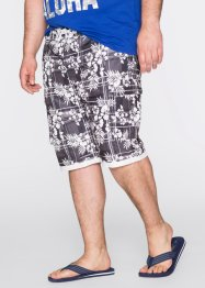 Bermudashorts, bpc bonprix collection, svart, mönstrad