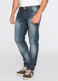 Jeans, normal passform, avsmalnande ben, John Baner JEANSWEAR, dirty denim used