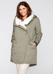 Tunn parkas med teddyfoder, bpc bonprix collection